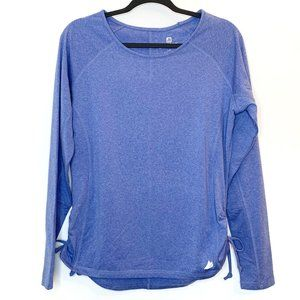 Free2B Free Country Blue Cinched Long Sleeve Top